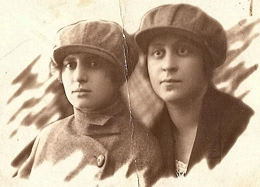 Esphir Klionsky with a friend, Baku, Azerbaijan, USSR, 1927?